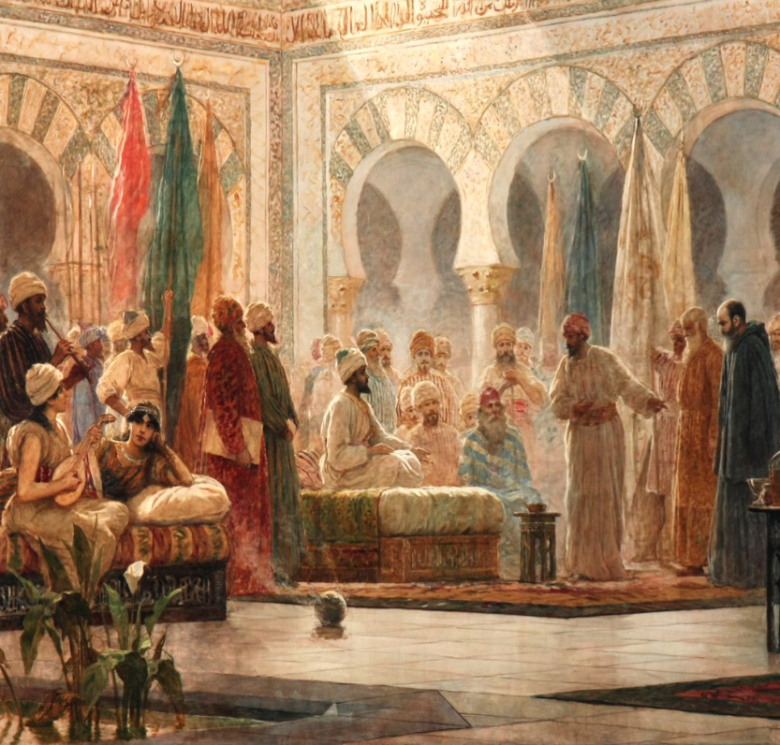 Embajada de Juan de Gorze a Abderramán III, Dionisio Baixeiras, 1885