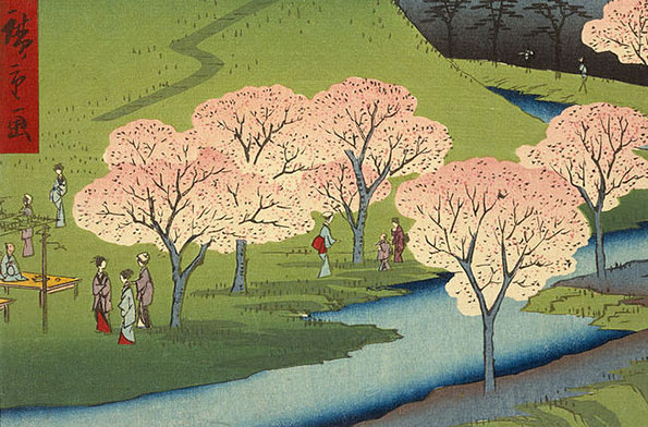 Vistas de Edo, Utagawa Hiroshigue