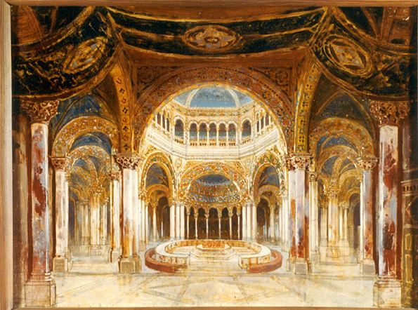 Templo del Grial, Paul von Joukowsky, Bayreuth, 1882